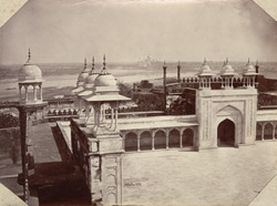 Interior of Palace, Agra Fort and Taj Mahal